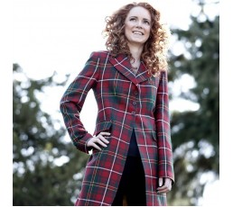 Women's Long line Tartan Jacket