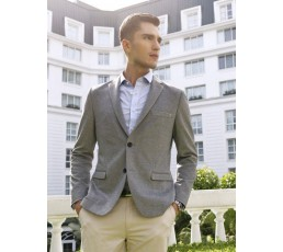 Mens Slim Fit Casual Blazer Jacket