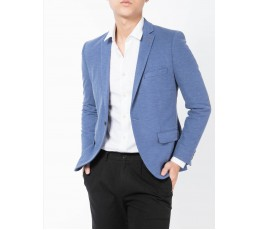 Mens Slim Fit One Button Blazer Jacket