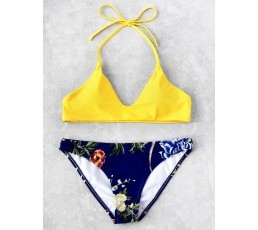 Botanical Print Mix And Match Bikini Set